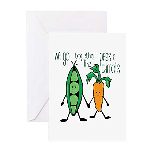(CafePress Peas & Carrots Greeting Cards Greeting Card, Note Card, Birthday Card, Blank Inside Glossy)