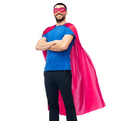 Super Grover Costume Adults (D.Q.Z Superhero Cape for Adult with Mask Men Women Super Hero Party)