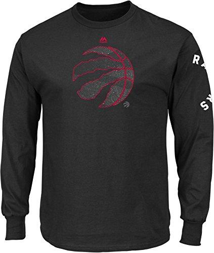 NBA Toronto Raptors Men's Easy Choice Long Sleeve Basic Tee, XX-Large, Black