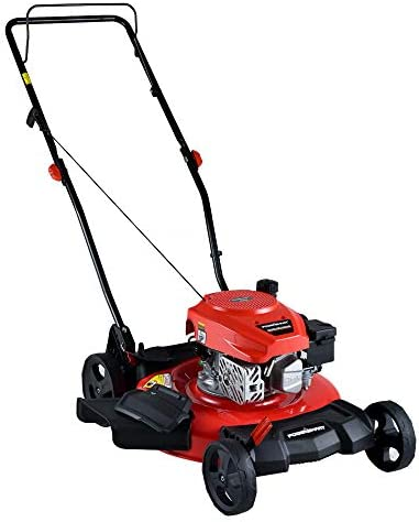 PowerSmart Lawn Mower, 21-inch 170CC, Gas Powered Push Lawn Mower with 4-Stroke Engine, 2-in-1 Gas Mower in Color Red Black, 5 Adjustable Heights 1.18 -3.0 , DB2194CR