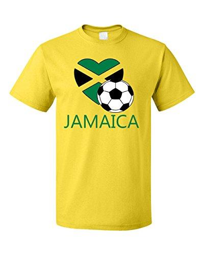 Jamaican Soccer Jamaica Futbol Football Unisex Cotton T-Shirt Tee Top Yellow S