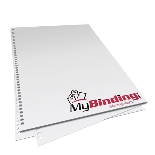 """8.5"""" x 14"""" 28lb 4:1 Coil 43 Hole Pre-Punched Binding Paper - 250 Sheets"""