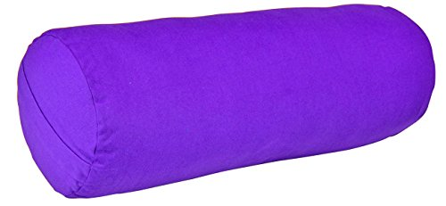 YogaAccessories MAX Support Deluxe Round Cotton Yoga Bolster