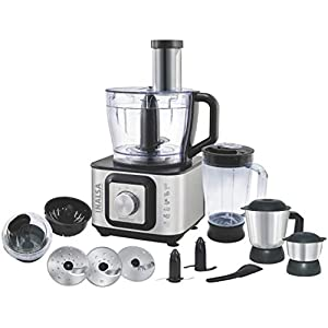Inalsa Kitchen Master 1000 1000W Food Processor, Black, Silver