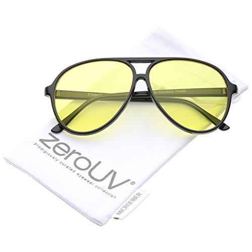 Retro Large Blue Blocking Lens Aviator Sunglasses 60mm ()