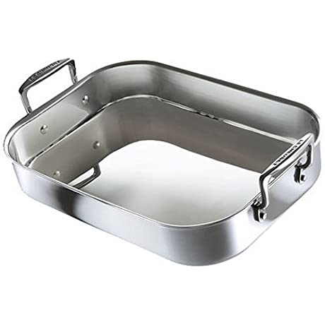 Le Creuset Tri Ply Stainless Steel Roasting Pan