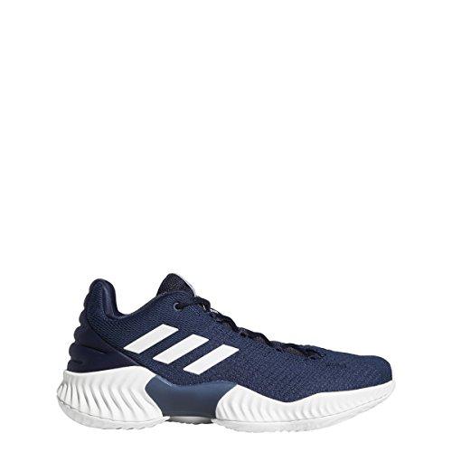 adidas Pro Bounce 2018 Low Shoe - Men's Basketball 10.5 Collegiate Navy/White
