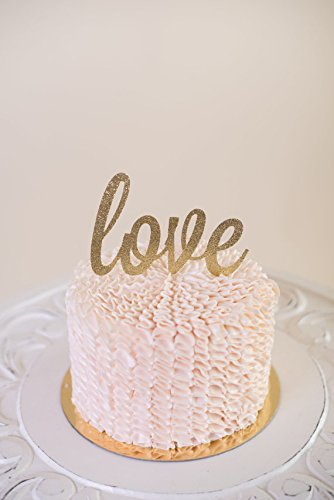 Amazon Com Glitter Love Cake Topper For Wedding Valentine S Day