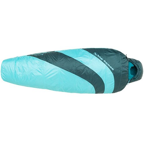(BIG AGNES Women's Blue Lake 25 Regular Sleeping Bag Turquoise/Pine RIGHT ZIP)