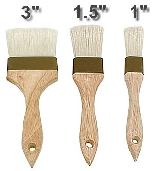 3 COMMERCIAL PASTRY BRUSH SET by overstockedkitchen