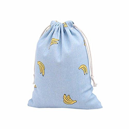Drawstring Bags, Rcool Drawstring Beam Port Storage Bag Travel Bag Satchel Tote Gift Bag Sky Blue