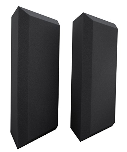 - Ultimate Acoustics UA-BTBG Bass Trap Professional Acoustic Foam with Bevel and Mounting Tabs Included, 2 Pairs