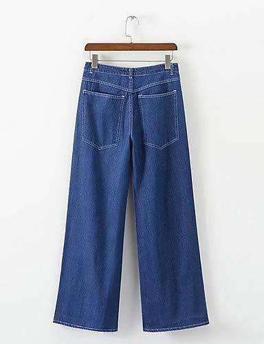 Jeans Unie YFLTZ Basic Pantalon Blue pour Femme Couleur nTHnwgxqRp