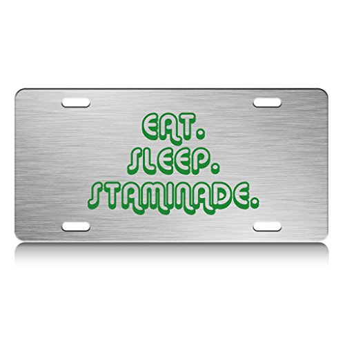 eat-sleep-staminade-vegetable-metal-license-plate-frame-ch