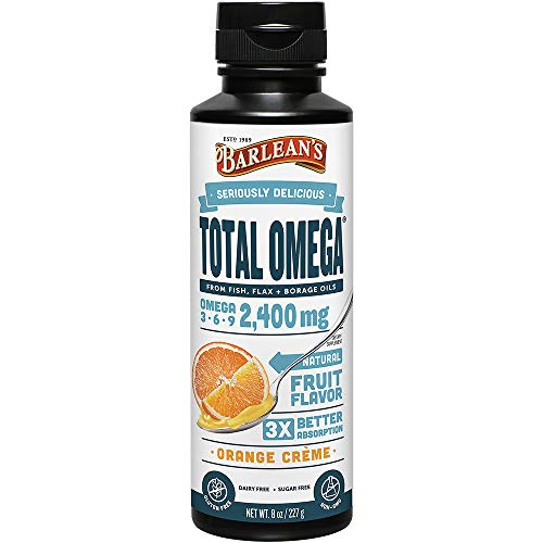 - Barlean's Seriously Delicious Total Omega, Orange Crème, 8-oz