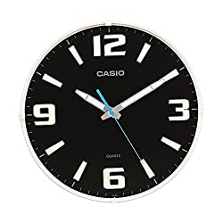 Casio Iq-63-1 Wall Clock with 12 Inches Thinline Quartz Black Dial Battery Included