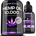 Hemp Oil 10000 Mg For Pain Relief Natural Hemp Seed Oil Grown Made In Usa Increased Efficiency For Anxiety Stress Management Anti Inflammatory Joint Support Omega 3 6 9