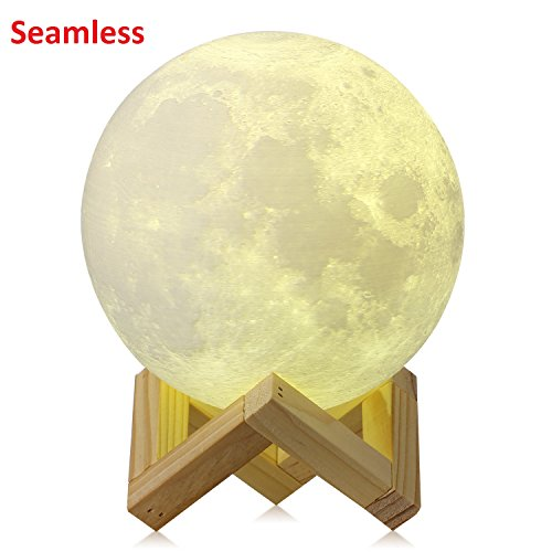 [Upgraded Version] CPLA Seamless 3d Moon Lamp led Night Light Touch Control Moon Light 3000K 6000K Rechargeable Home Decorative Light 5.8inch