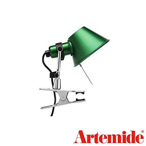 Artemide Tolomeo Micro Pinza Green Table Wall Lamp Design De Lucchi Fassina