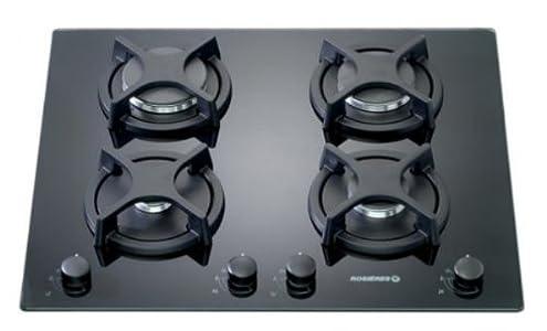 Rosieres RTV 640 FPN Plaque de Cuisson Gaz Intégrable 59,5 cm Perle Noir