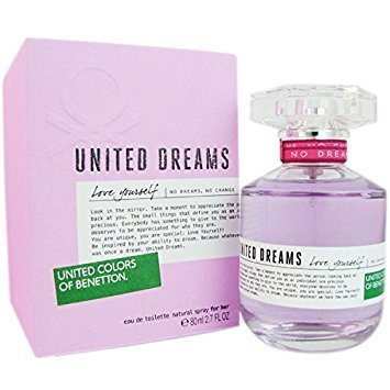 UNITED DREAMS LOVE YOURSELF Benetton 2.7 oz / 80 ml EDT Women Perfume Spray