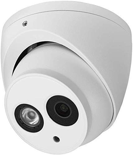 R-Tech 5MP 4-in-1 AHD/CVI/TVI/Analog Outdoor/Indoor Turret Dome Camera with Matrix IR Night Vision – 2.8mm Fixed Lens – White