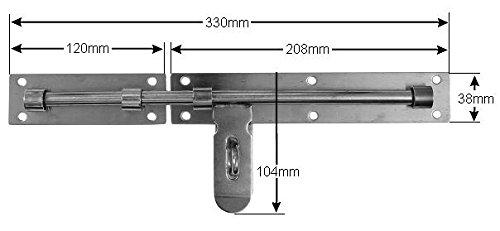 XXL Edelstahl Riegel 420mm /Überfalle gro/ße Torriegel T/ürriegel Schubriegel