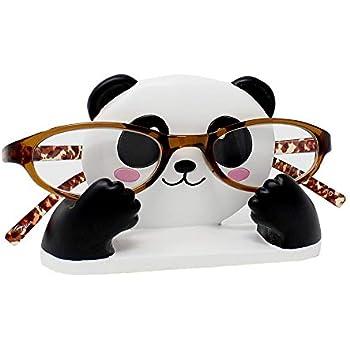 JewelryNanny Fun Animal Eyeglass Holder Stand for Kids Women - Securely Hold Kids Eyeglasses, Adult Reading Glasses Like Glasses Organizer for Desk, Bedside Nightstand - Panda