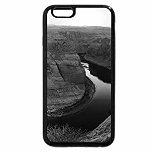 iPhone 6S Plus Case, iPhone 6 Plus Case (Black & White) - horseshoe bend sunset