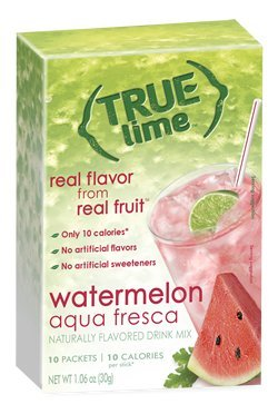 NEW FLAVOR: True Lime | WATERMELON AUQUA FRESCA (Pack of 3) 10ct each box. True Lemon | True Citrus NON GMO and NO GLUTEN 1 NEW FLAVOR: Includes 3 boxes WATERMELON AQUA FRESCA Limeade (10ct each) Naturally Sweetened with Stevia All Natural Ingredients