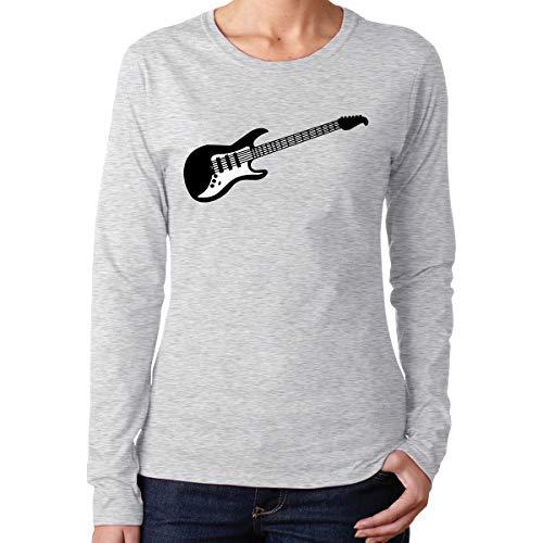 Women's Long-Sleeve 100% Cotton T-Shirt, Fashion Rock Music