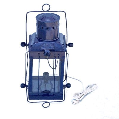 Cargo Electric Lamp Size: 18″ H x 9.5″ W x 7.5″ D, Finish: Dark Blue