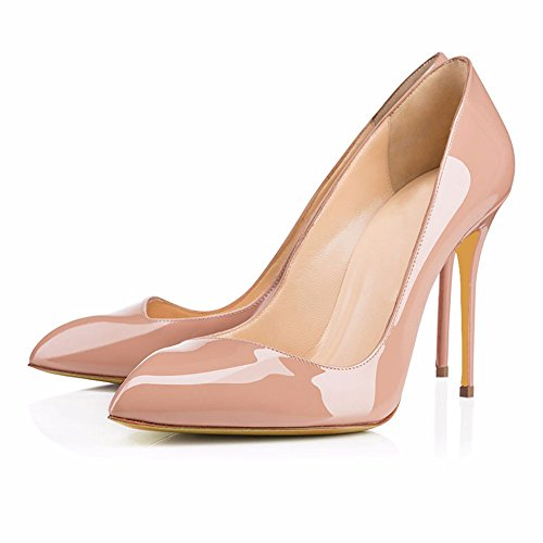 toe Womens Pump apricot Stilettos Dress Party Wedding Platform AIWEIYi Heel Pointed High pUnUS4x