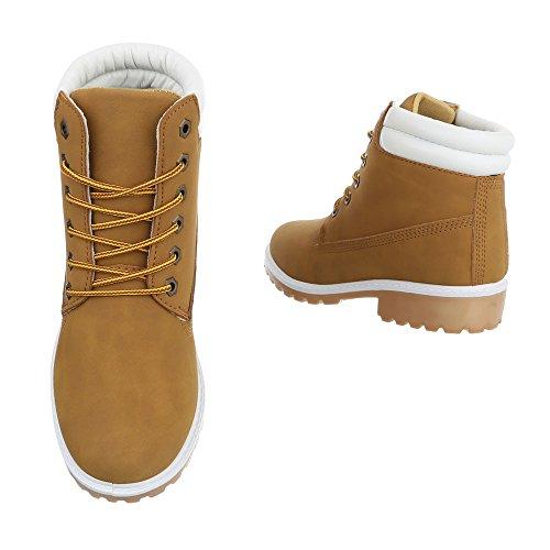 Ital-Design Women's Combat Boots Camel uNB93u