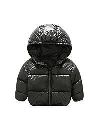 Luoyu Baby Boys Girls Winter Coat Down Jacket Solid Hoodie Coat Puffer Outerwear