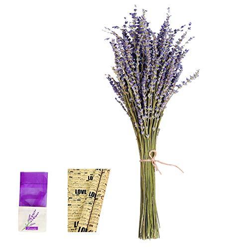 EMISH Dried Lavender Bundles - Freshly Harvested Real 100% Natural Lavender Bunch for DIY Home Office Party Wedding Decor, 18