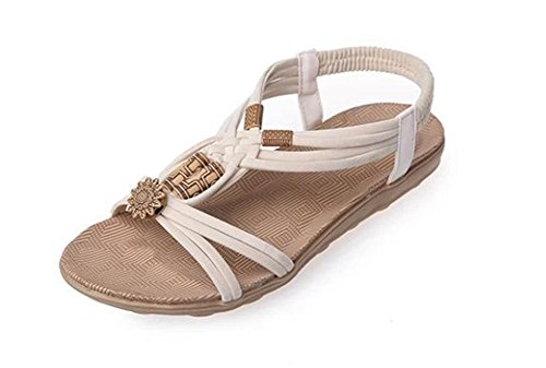 zapatos planos de las sandalias de cabeza de pescado zapatos grandes patios beige
