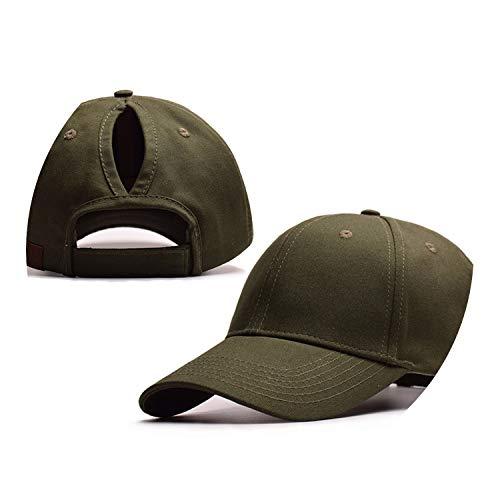 野球帽のキャップンスタイルのオープンポニーテールキャップ カスタマイズ 帽子,陸軍の緑,