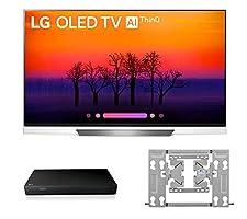 LG OLED55E8P OLED 4K Ultra High Definition AI Smart TV + UP870 4K UHD Blu-Ray Player + OTW420B EZ Slim Wall Mount