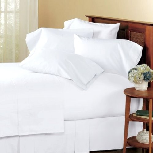 Marrikas 300TC Egyptian Cotton Twin Extra Long Sheet Set Solid White