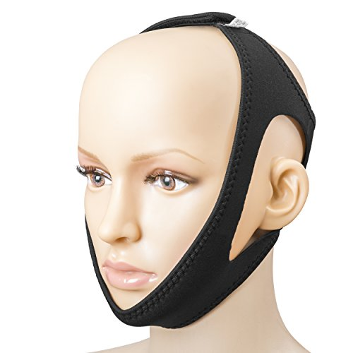 Adjustable Anti-Snoring Chin Strap Support - Natural and Instant Snore Relief - Stop Snoring Solution