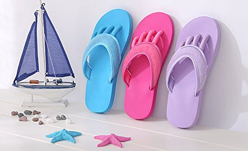 Pool Slippers purple Bathroom Sole Non Slip Slide Shoes on for Shower Toe Separators Yaga Beach Women Mule Sandal slip EFU7wCq