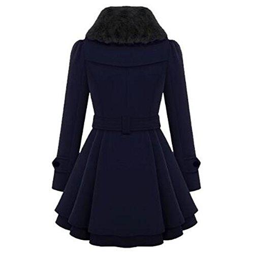 Femme Blouson Parka Chaud longue Veste Épais Newbestyle Mi Automne Manteau Hiver Bleu SHfvfdq