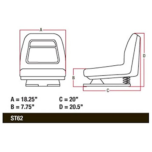 AM131801 New John Deere Seat GT225 GT235 GT235E GT245 GX325 GX335 GX345 GX355 +