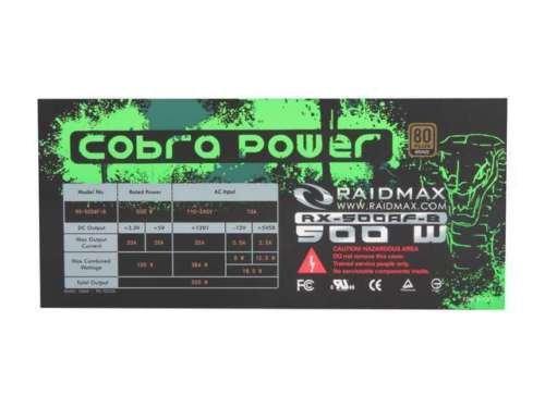 Raidmax ATX 500 Power Supply RX-500AF-B by Raidmax (Image #2)