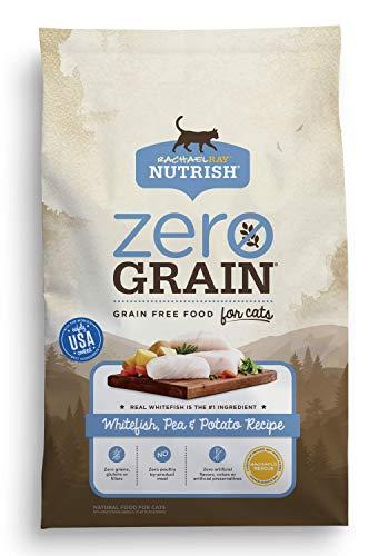 Rachael Ray Nutrish Zero Grain Natural Dry Cat Food, Grain Free, Whitefish & Potato Recipe, 6 lbs