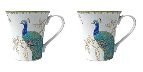 Peacock Garden (222 Fifth Peacock Garden Porcelain Coffee Mugs, Set of 2 by 222 Fifth)