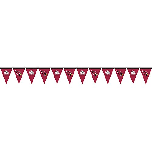 Creative Converting Officially Licensed NFL Plastic Flag Banner, 12', Arizona Cardinals
