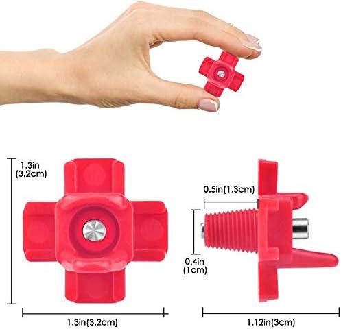SODIAL Gefl/üGel Wasser Nippel Automatische Trinker f/ür H/üHner Wachtelente 25 Pack H/üHner Nippel mit Horizontaler Seiten Montage