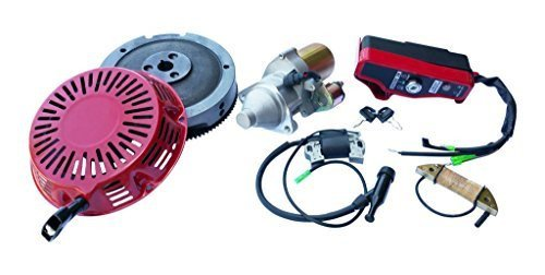 Everest Brand Electric Starter Motor Kit Compatible with Honda GX340 GX390 Flywheel Coil Ignition Box Recoil ()